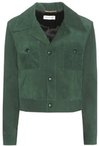 Saint Laurent Cropped Suede Jacket