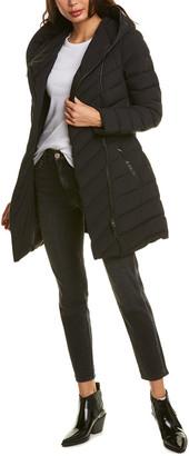 Mackage Nadine Leather-Trim Down Coat