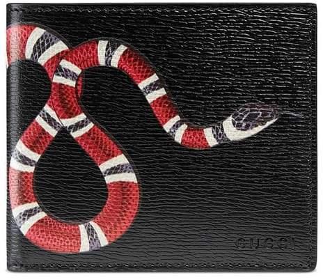 Gucci Kingsnake print leather wallet