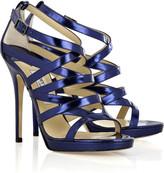 Zero metallic-leather sandals
