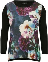 M&Co Floral woven front jumper