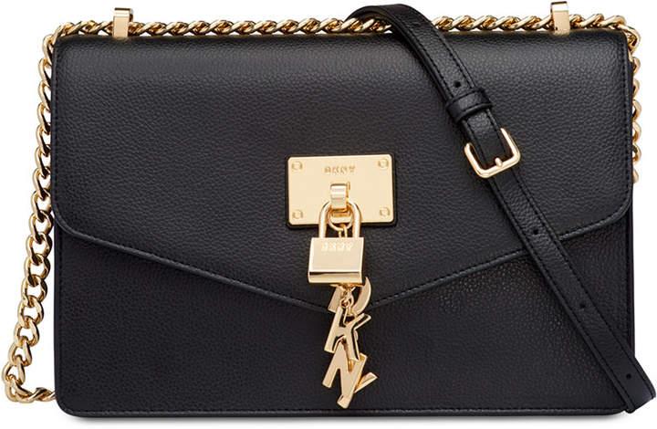 DKNY Elissa Leather Chain Strap Shoulder Bag