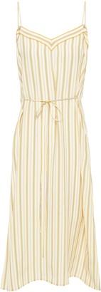 Rag & Bone Ilona Striped Silk-cady Midi Slip Dress
