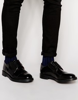 Base London Steam Leather Derby Shoes - Black