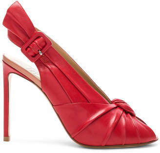 Francesco Russo Slingback Heels in Red | FWRD
