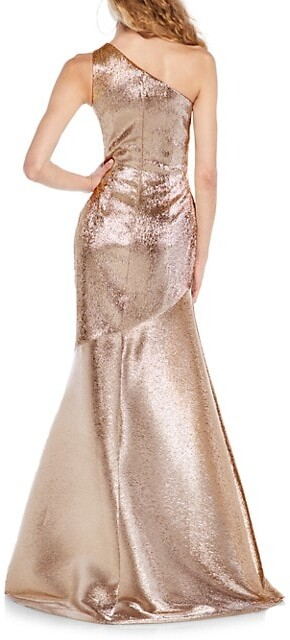 Thumbnail for your product : Theia Metallic Lame-Silk Mermaid Gown
