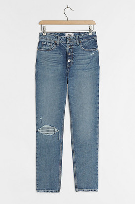 Paige Sarah Ultra High-Rise Slim Straight Jeans By in Blue Size 25
