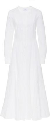 Rebecca De Ravenel Cotton-Poplin Maxi Dress
