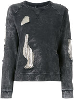 Versus embroidered sweatshirt - women - Cotton/metal - XS