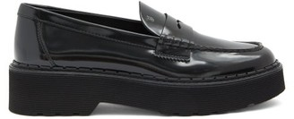 Tod's Flatform Patent-leather Penny Loafers - Black