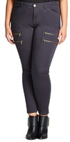 City Chic Plus Size Women's Commando Zip Skinny Pants