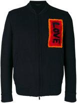 Fendi fur embellished bomber jacket - men - Polyamide/Cupro/Cashmere/Virgin Wool - 48