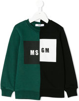 MSGM logo asymmetric print sweatshirt - kids - Cotton - 4 yrs