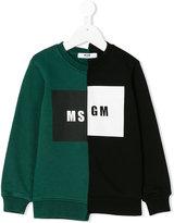 MSGM logo asymmetric print sweatshirt