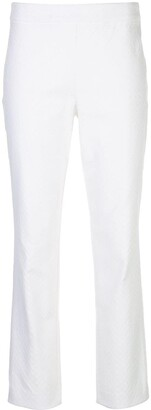 Natori Jacquard Slim-Fit Trousers