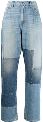 Diesel Patchwork Cropped Jeans
