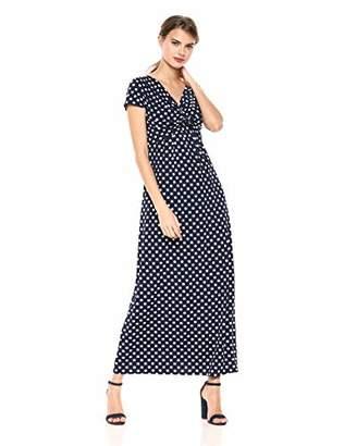 Star Vixen Women's Short Sleeve Twist-Front Maxi