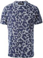 Neil Barrett leopard pattern print T-shirt