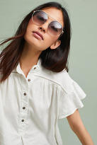 Anthropologie Hexagonal Aviator Sunglasses