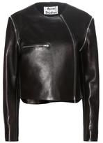 Acne Studios Marrau Cropped Black Leather Jacket