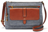 Fossil Kinley Chambray Large Cross-Body Bag