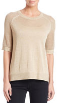 MICHAEL Michael Kors Plus Metallic Hi-Lo Raglan Sweater