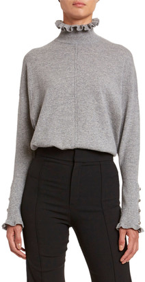 Chloé Iconic Cashmere Frill-Trim Sweater