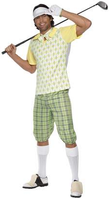 Smiffys Men's Gone Golfing Costume and with Visor Shorts Top Bow Tie and Glove