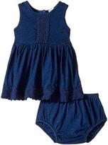 Splendid Littles Indigo w/ Lace Trim Dress (Infant)