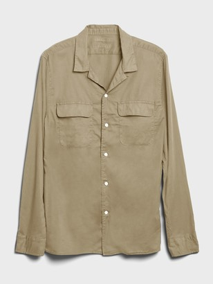 Banana Republic Slim-Fit Organic Cotton Resort Shirt