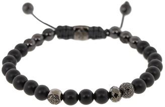 Shamballa Jewels 18kt Black Gold, Diamond And Onxy Beaded Bracelet