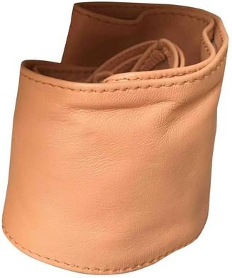 Designers Remix Beige Leather Belts