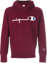 Champion inside out logo hoodie
