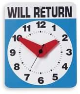 Kikkerland Will Return Wall Clock