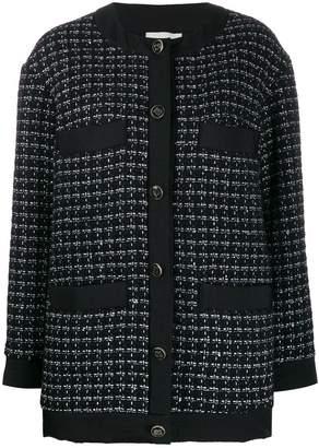 Sandro Paris tweed embroidered cardigan