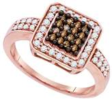 DazzlingRock Collection 1/2 Total Carat Weight COGNAC DIAMOND LADIES FASHION RING