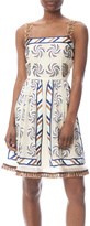 Anna Sui Pinwheel Raffia Dress