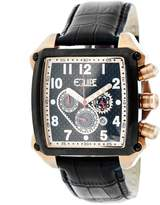 Equipe Bumper Chronograph Black Dial Black Leather Men's Watch