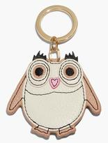 Talbots Leather Key Fob-Owl