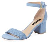 Ava & Aiden Woven Suede Block Heel Sandal
