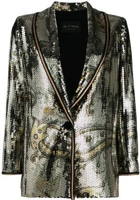 Etro Sequin Embellished Blazer
