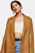 Topshop Tan Leather Blazer
