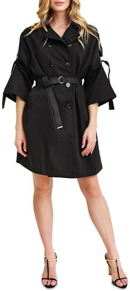 Belle & Bloom Russian Romance Oversized Black Trench Coat