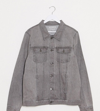 Another Influence Tall slim fit grey wash denim jacket