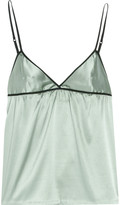 Stretch silk-charmeuse camisole
