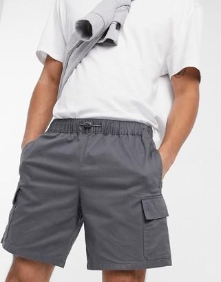 ASOS DESIGN cargo shorts in charcoal