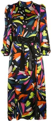 Olivia Rubin abstract print midi dress