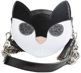 MSGM White And Black Leather Cat Bag