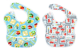 Bumkins Blue Fire Engine & Trucks SuperBib Set