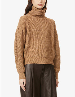 The Kooples Cropped turtleneck knitted jumper